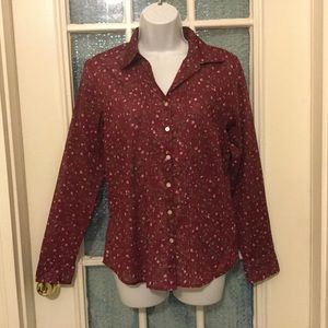 Eddie Bauer Floral long sleeves top size small